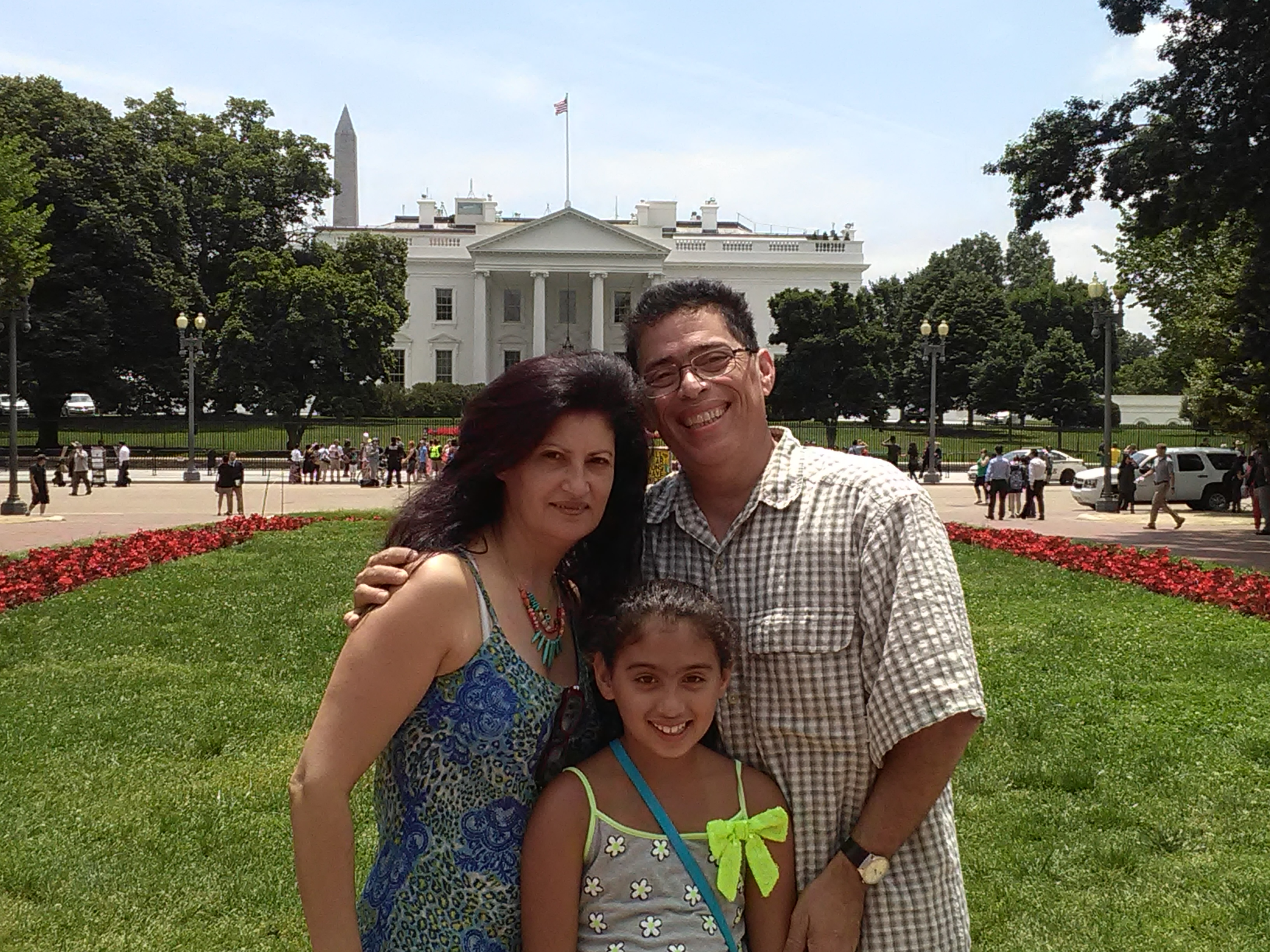 with Assia and Sophia at the White House