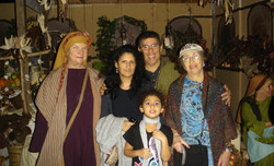 Family at Christmas Nativity Event