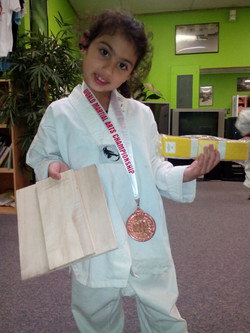 Sophia, a new yellow belt