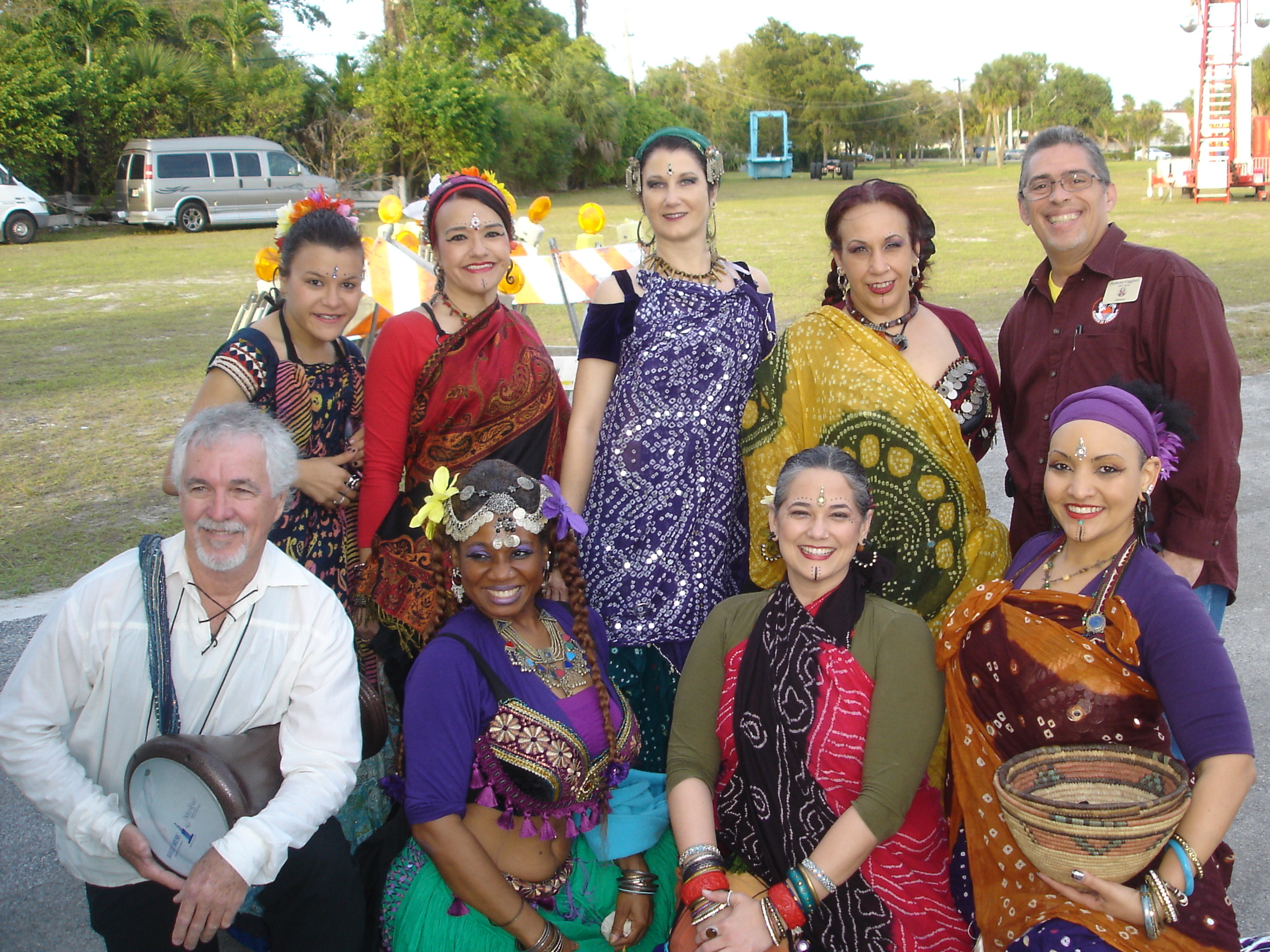 With a Middle Eastern Dance Troupe