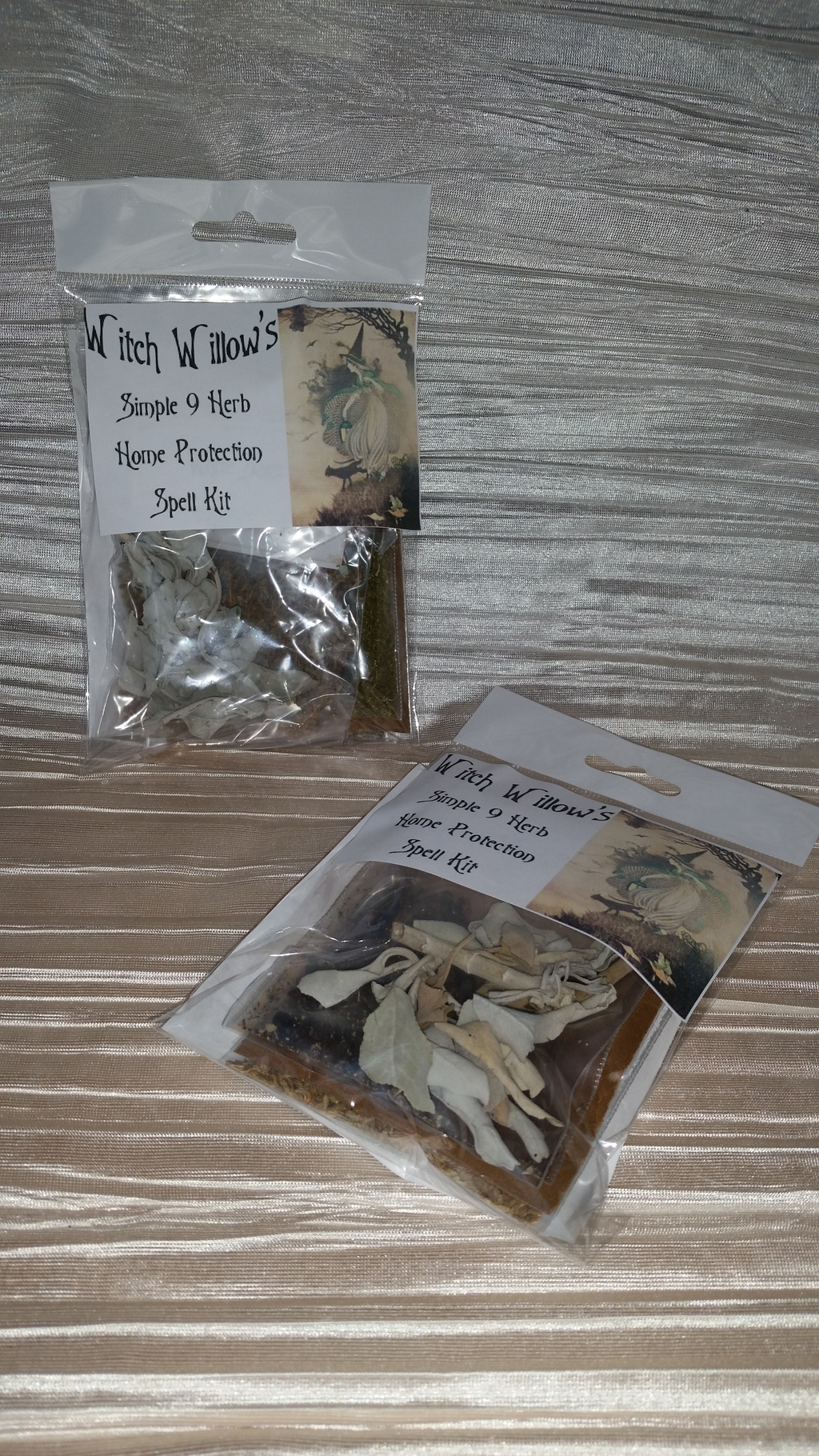Simple 9 herb home protection spell kit