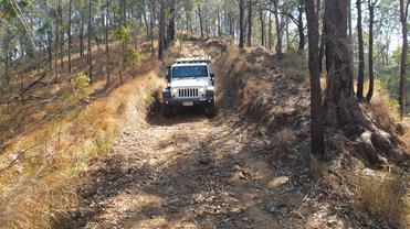 Jeep on Winterfield Peaks Track