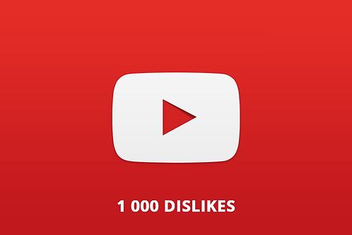 1 000 Dislikes Youtube