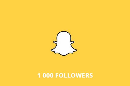 1 000 followers Snapchat