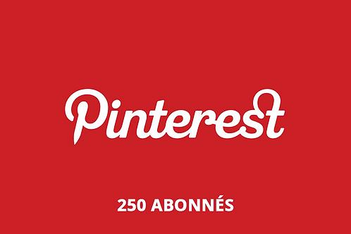250 abonnés Pinterest