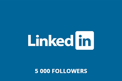 5 000 followers LinkedIn