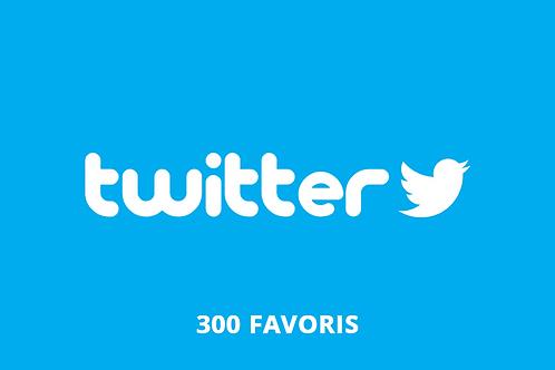 300 favoris Twitter