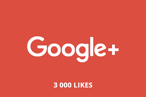 3 000 likes Google +