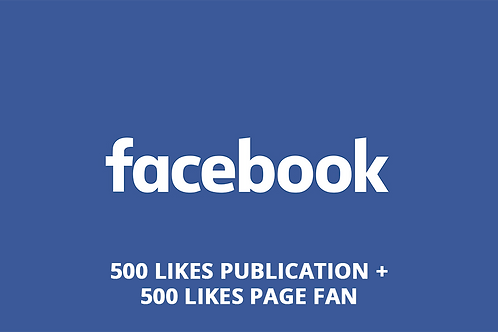 500 likes post + 500 likes pages fan