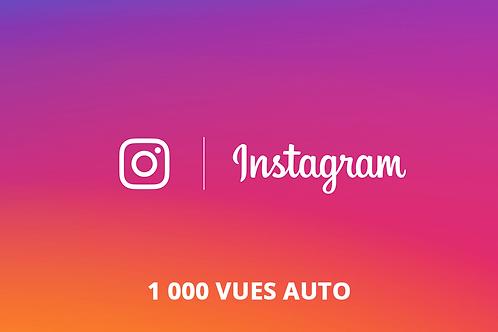 1 000 vues AUTO Instagram