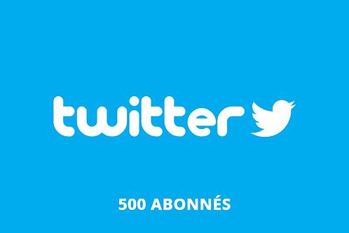 500 abonnés Twitter