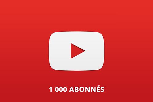 1 000 abonnés Youtube