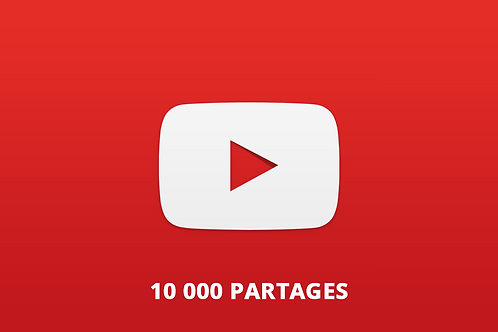 10 000 partages Youtube