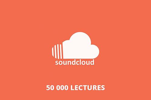 50 000 lectures Soundcloud