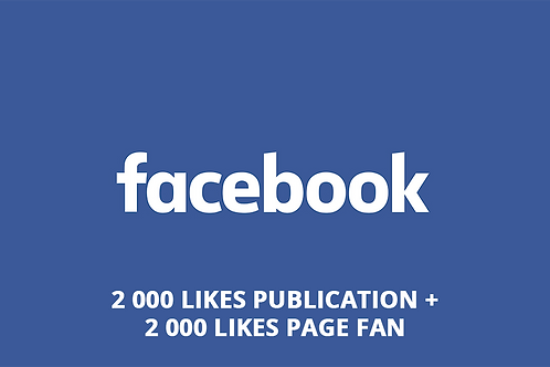 2 000 likes post + 2 000 likes pages fan