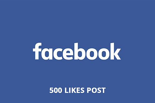 500 Likes Post Facebook