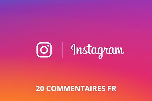20 commentaires FR Instagram