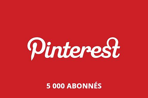 5 000 abonnés Pinterest
