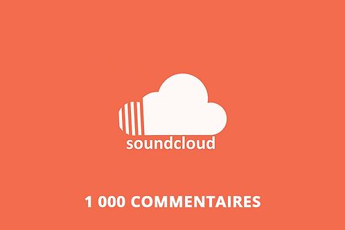 1 000 commentaires Soundcloud