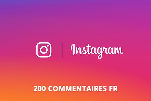 200 commentaires FR Instagram