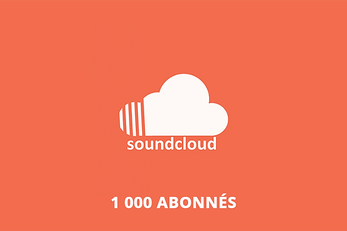 1 000 abonnés Soundcloud