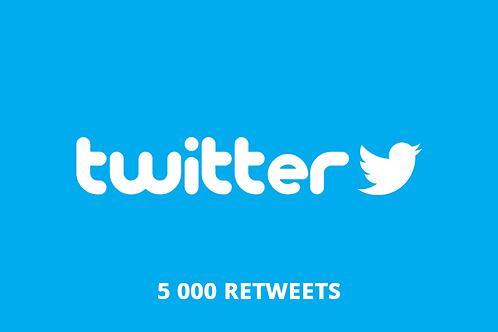 5 000 retweets Twitter