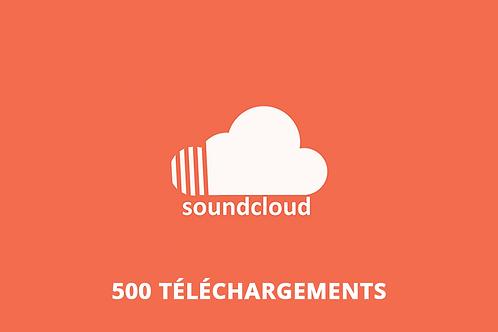 500 téléchargements Soundcloud