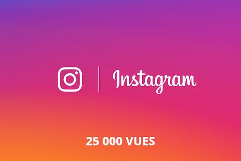 25 000 vues Instagram