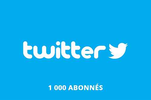 1 000 abonnés Twitter