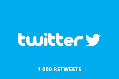 1 000 retweets Twitter
