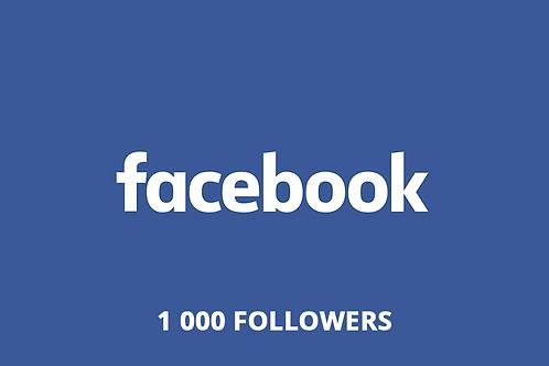 1 000 followers Facebook