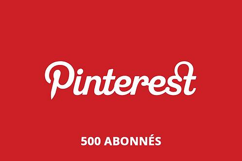 500 abonnés Pinterest