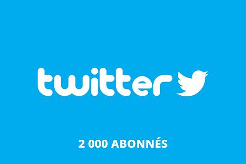 2 000 abonnés Twitter