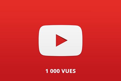 1 000 vues Youtube