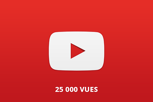 25 000 vues Youtube