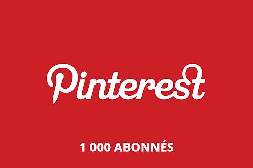 1 000 abonnés Pinterest