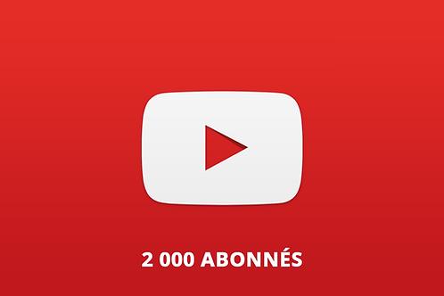 2 000 abonnés Youtube