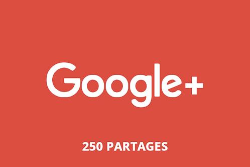 250 partages Google +