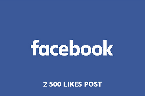2 500 Likes Post Facebook