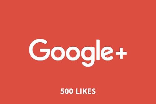 500 likes Google +