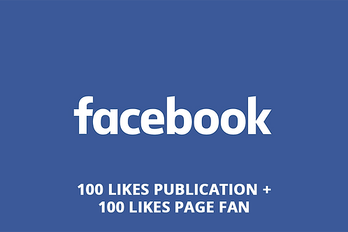100 likes post + 100 likes pages fan