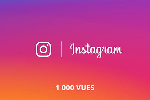 1 000 vues Instagram