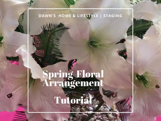 Staging | Spring Floral Arrangement