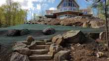 Some fantastic images of hydroseeding an awesome cottage on Bob's Lake