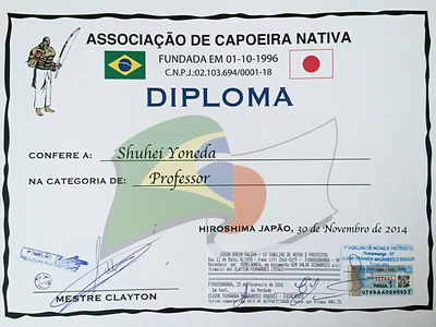 Diploma Capoeira Professor Hiroshima