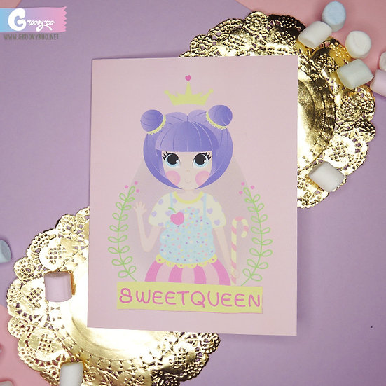 Sweet Queen Greeting Card