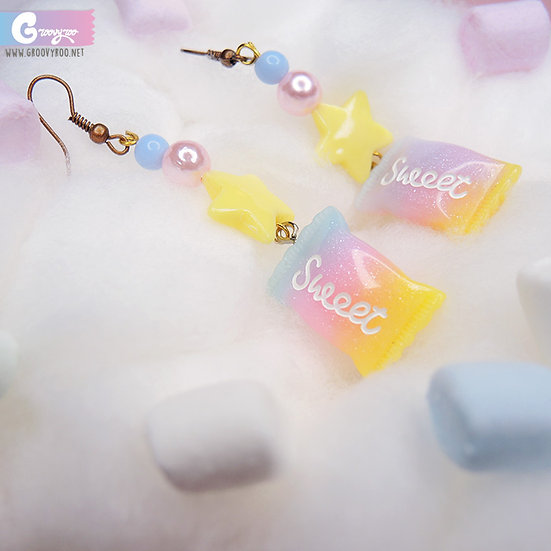 Rainbow Handmade Sweet Candy Earrings in Different Colours