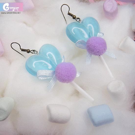 Heart Shape Lollipops Earrings in Different Colours