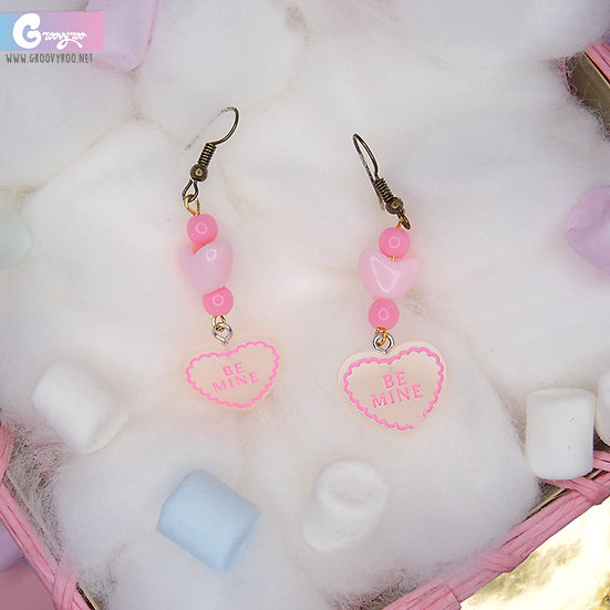 "Conversation Heart ""Be Mine"" Earrings"
