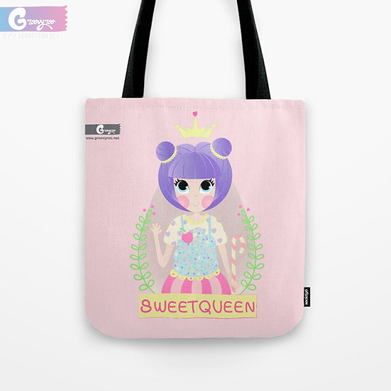 Kawaii Candy Queen Tote Bag